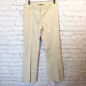 Antonio Melani cream flat front trousers size 4